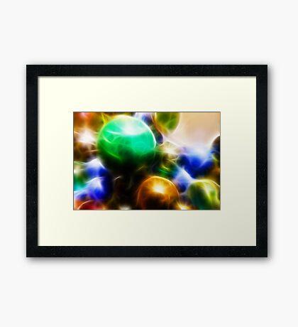 Coloured orbs Framed Print