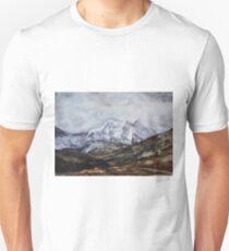 Snowdon Horseshoe in Winter Unisex T-Shirt