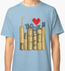 I Love Heart Books Readers Writers Librarians Classic T-Shirt