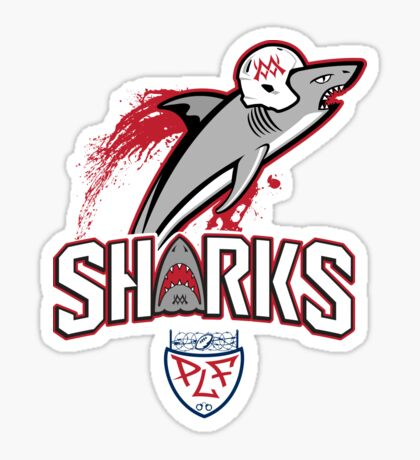 Sharks Football Sticker