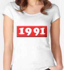 1991 Women's Fitted Scoop T-Shirt
