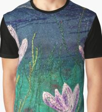 Wild Crocus Embroidery Art By Juliet Turnbull Graphic T-Shirt