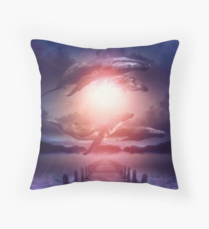 Space Between Dreams & Reality Throw Pillow