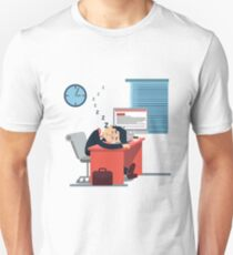 Tired Sleeping Businessman at Work Unisex T-Shirt