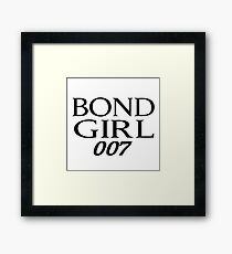 Bond Girl Framed Print