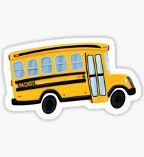 Cute Yellow School Bus Sticker Sticker