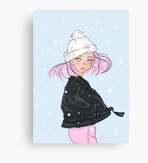 Women in Snow Canvas Print