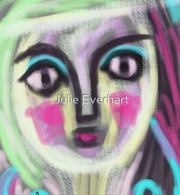 Blushing Girl by Julie Everhart by Julie Everhart