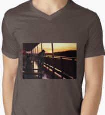Romantic Sailing Mens V-Neck T-Shirt