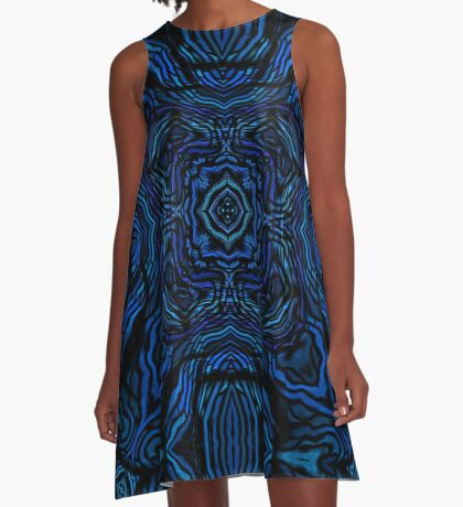Waves of Blue by Julie Everhart A-Line Dress