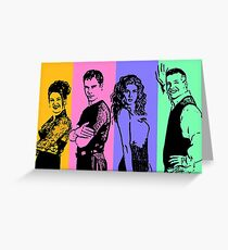will and grace Greeting Card