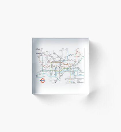 London Underground Acrylic Block