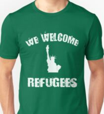 We Welcome Refugees Shirt Statue of Liberty Political Activism Tee T-Shirt