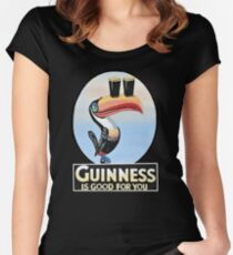 VINTAGE GUINNESS TOUCAN Women's Fitted Scoop T-Shirt