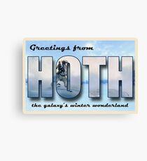 Hoth Postcard Canvas Print