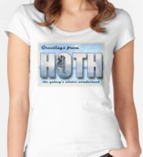 Hoth Postcard Women's Fitted Scoop T-Shirt