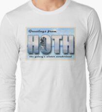 Hoth Postcard Long Sleeve T-Shirt