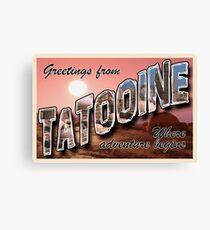 Tatooine Postcard Canvas Print