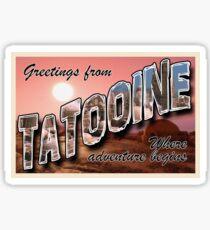 Tatooine Postcard Sticker
