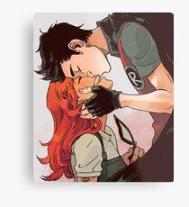 Robin and Starfire Metal Print