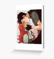 Robin and Starfire Greeting Card