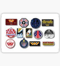 NOSTROMO WEYLAND-YUTANI CORP SULACO , ALIEN , ALIENS - Set of 13 Stickers , Digitaly Printed on a ORAFOL media with size 53 x 33 cm  Sticker