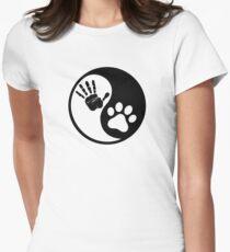 Yin Yang Paw Hand T-Shirt