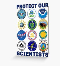 Protect Our Scientists Pro-Science Pro-Climate Change Resist Anti-Trump Greeting Card