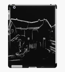 black and white  house drawing effect iPad Case/Skin
