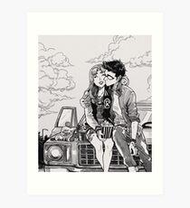 Drive in movies Art Print