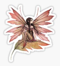 Autumn Drifting Fairy Fantasy Art Sticker