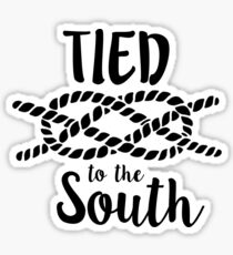 Tied to the South Yall stickers Sticker