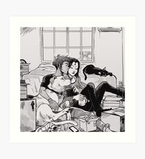 Moving in together Art Print