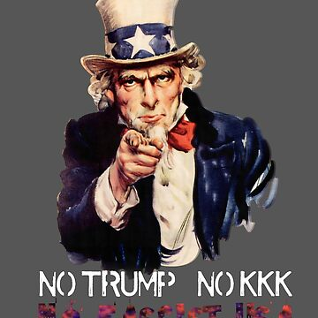 No Trump, No KKK, No Fascist USA by prolificpixie