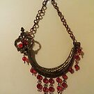 Red Crystal Ship - Wall Jewellery by Marie Van Schie