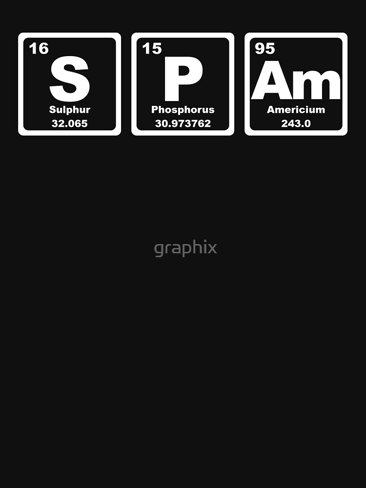 Spam - Periodic Table by graphix