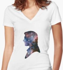 Han Solo - Galaxy Women's Fitted V-Neck T-Shirt