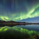 Aurora reflections by Frank Olsen