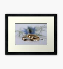 Wedding bands Love in a mist Framed Print