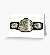 UFC belt Greeting Card