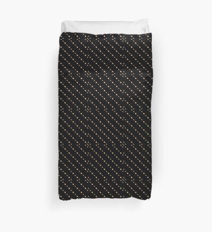 Black with Peach Stripes ( Diagonal)  Duvet Cover