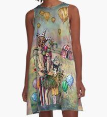 Ten of Cups Tarot Carnival Art from 78 Tarot Fantasy A-Line Dress