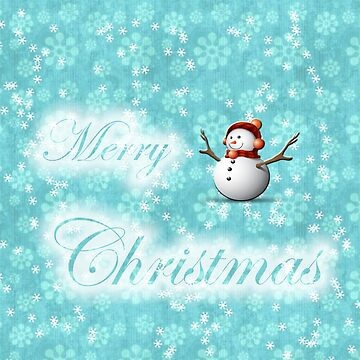 merry christmas snowman design by studenna