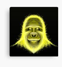 Wacky Yellow Energy Gorilla Canvas Print