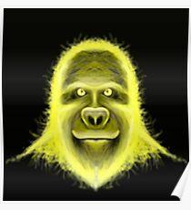 Wacky Yellow Energy Gorilla Poster