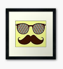 Hipster Glasses And Mustache Framed Print