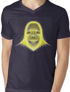 Wacky Yellow Energy Gorilla Mens V-Neck T-Shirt