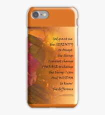 Serenity Prayer Orange Pink Rose iPhone Case/Skin