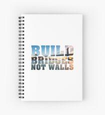 Build bridges not walls - photo contour Spiral Notebook