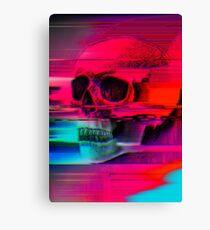 Mortality Glitch Canvas Print